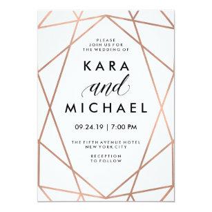 Gold And White Wedding Invitations Zazzle