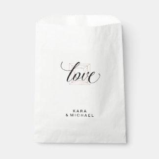 Minimalist Modern Geometric Diamond Wedding Favor Bag