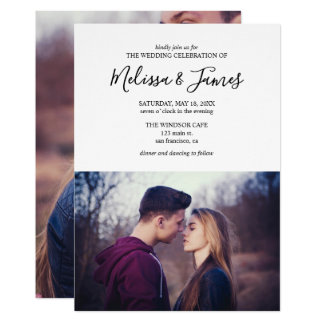 Minimalist Modern Photo Wedding Invitation