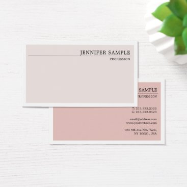 Wedding Themed Minimalist Modern Plain Elegant Vintage Colors Business Card