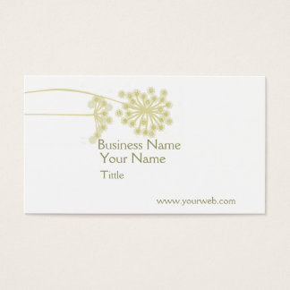 Minimalist Modern Professional Elegant Wild Flower Business Card