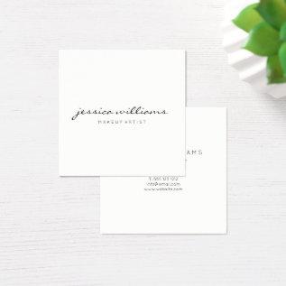 Minimalist Modern Professional Square Ii Square Business Card at Zazzle