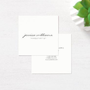 evented Minimalist Modern Professional Square II Square Business Card