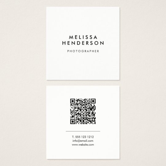 Minimalist modern qr code square business card zazzle minimalist modern qr code square business card reheart Images