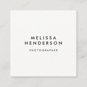 Qr code business cards zazzle minimalist modern qr code square business card reheart Image collections