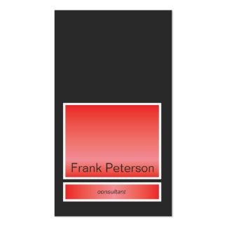 Minimalist modern rectangle business card