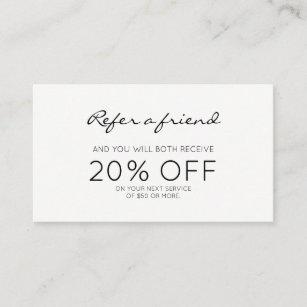 Referral cards zazzle minimalist modern referral colourmoves