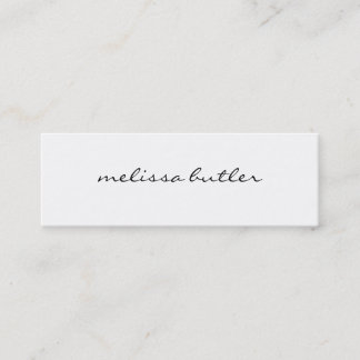 Minimalist Modern Stylish Mini Business Card