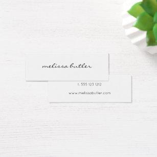 Mini business cards templates zazzle minimalist modern stylish mini business card wajeb Images