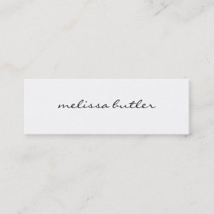 Minimalist business cards zazzle minimalist modern stylish mini business card reheart Images