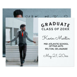 Minimalist Modern Type and Script Graduation Card