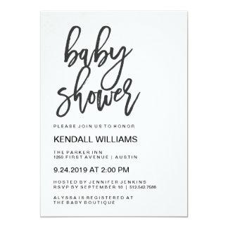 Minimalist Modern Typography Unisex Baby Shower Card