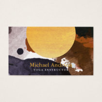 Minimalist Modern Watercolor Yoga Instructor Business Card