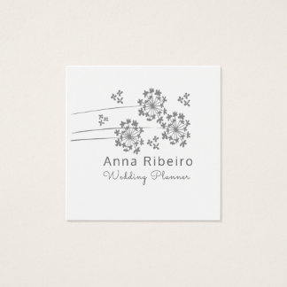Minimalist Modern Wedding Planner Floral Square Business Card