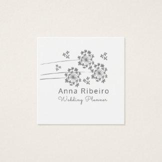 Minimalist Modern Wedding Planner Floral Square Business Card