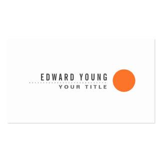 Minimalist moderno blanco del punto anaranjado del tarjetas de visita