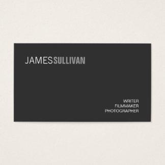 Minimalist moderno negro simple de la cadera del tarjetas de visita