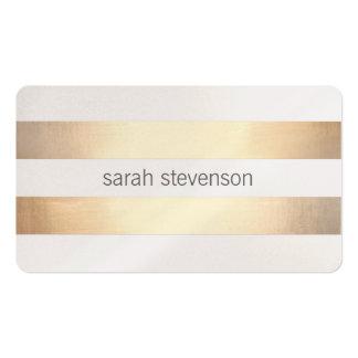 Minimalist moderno rayado de oro de la mirada eleg tarjetas de visita