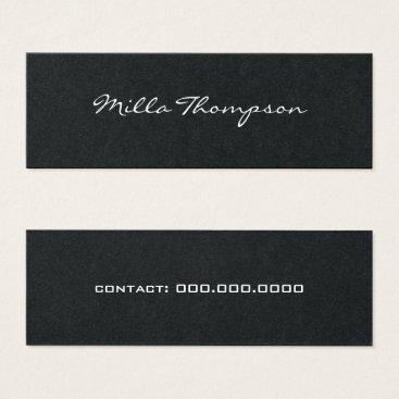 Professional Business minimalist name & contact-phone dark mini business card