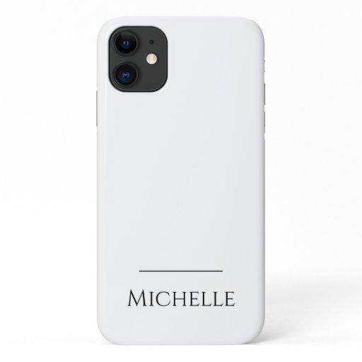 Minimalist name line above DIY color iPhone 11 Case