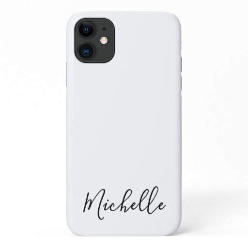 Minimalist name simple clean chic iPhone 11 case