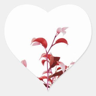 Minimalist Nature Heart Sticker