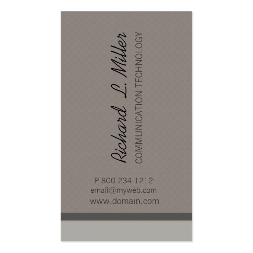 Minimalist Neutral Corporate Custom Double-Sided Standard Business Cards (Pack Of 100)
