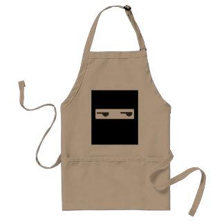 minimalist ninja adult apron
