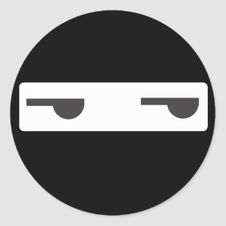 minimalist ninja classic round sticker