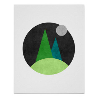Minimalist Nordic Abstract Art Poster at Zazzle