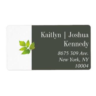 Minimalist Oak Autumn Wedding Address Label