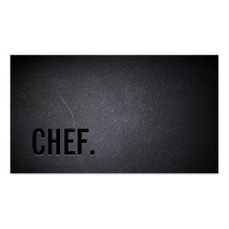 Minimalist oscuro profesional del cocinero tarjetas de visita