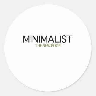 Minimalist Pegatinas Redondas