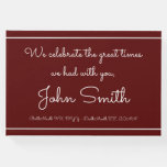 [ Thumbnail: Minimalist & Personalized Funeral Guest Book ]