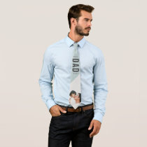 Minimalist Photo Best Dad Ever Father's Day Neck Tie