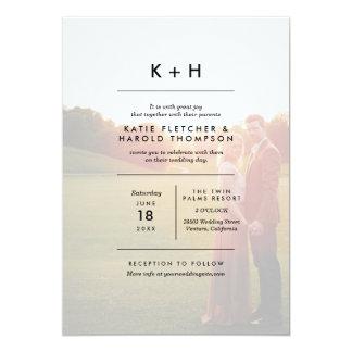 Minimalist Photo Wedding Card