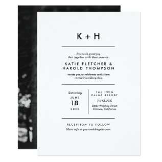Minimalist Photo Wedding Card at Zazzle