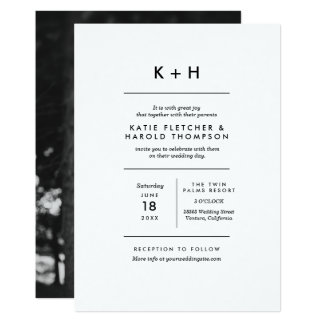 Minimalist Photo Wedding Card
