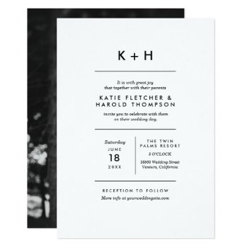 Minimalist Photo Wedding Card by origamiprints at Zazzle