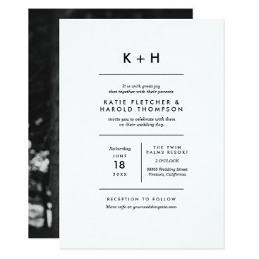 origamiprints Minimalist Photo Wedding Card