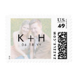 Minimalist Photo Wedding Postage