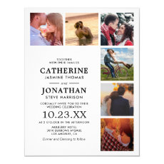Minimalist Picture Collage Wedding Invitation