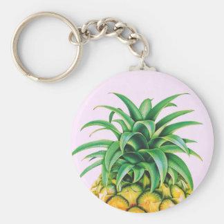 Minimalist Pineapple Basic Round Button Keychain
