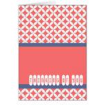 Minimalist Pink Retro Pattern Cards