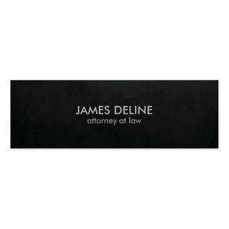 Minimalist Plain Texture Black Attorney Mini Business Card