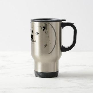 Minimalist portable dogecoin water bowl travel mug