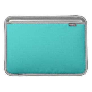 minimalist preppy chic aqua blue turquoise teal sleeve for MacBook air