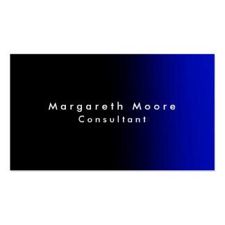 Minimalist profesional azul negro elegante llano tarjetas de visita