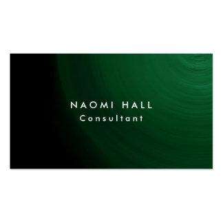 Minimalist profesional verde elegante llano simple tarjetas de visita