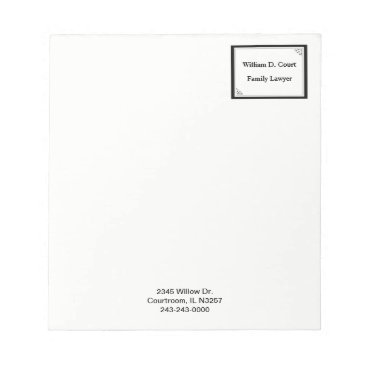 Professional Business Minimalist Professional Black Dot Frame Business Notepad